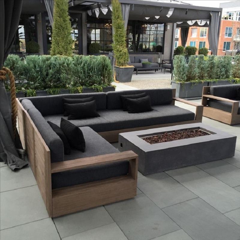 Sofa gỗ sồi sang trọng