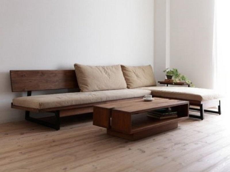 Ghế sofa nệm chân sắt