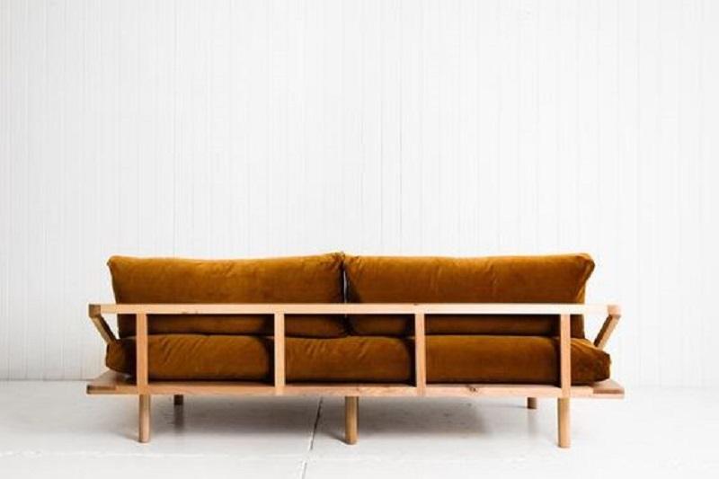Ghế sofa nệm dạng gỗ thanh