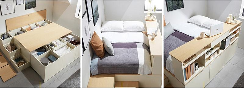 Phối cảnh chung của giường tiện lợi