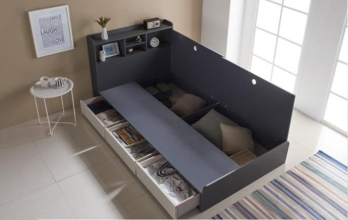 Bộ giường ngủ chia ngăn