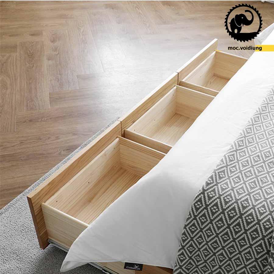 Ngăn kéo 2 lớp gỗ giúp tăng độ bền và chịu lực