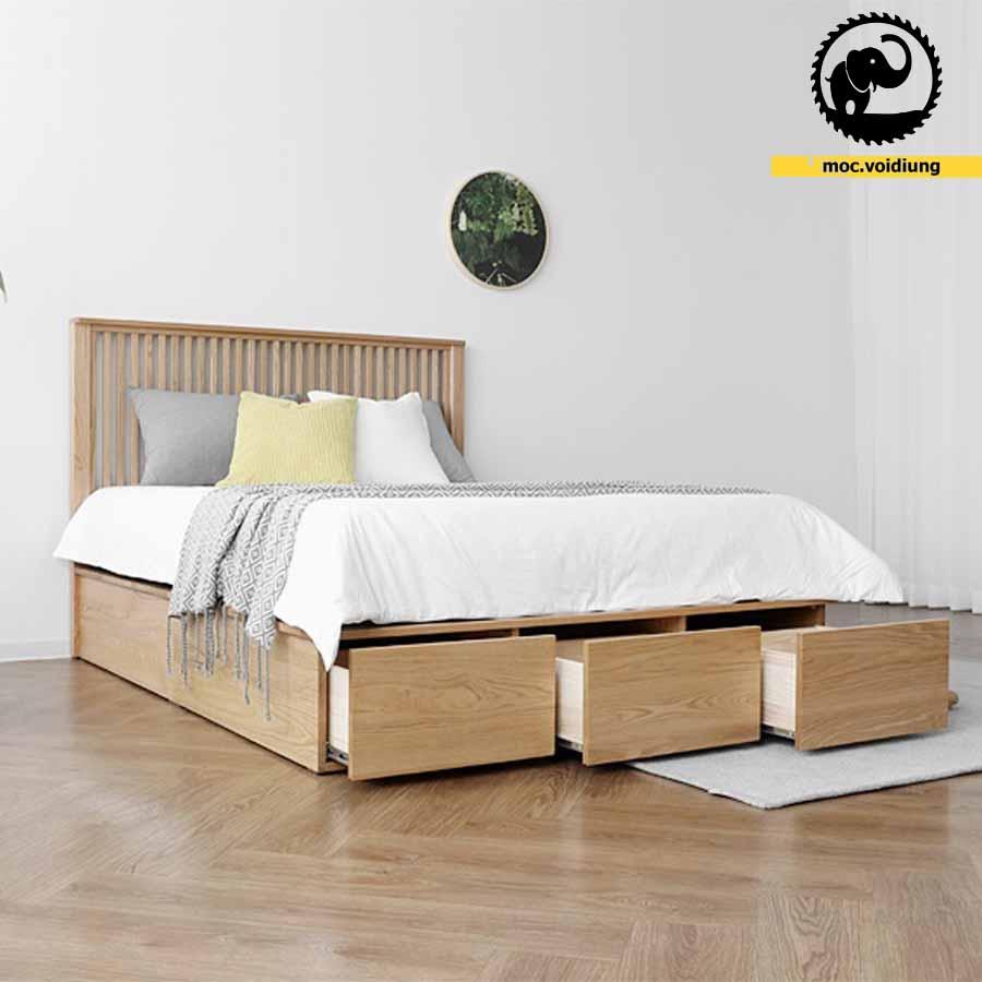 Ngăn kéo giường cho ta không gian chứa đồ tiện lợi