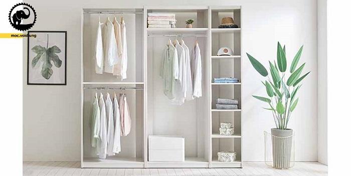 Nội thất phòng ngủ sang trọng không thể thiếu được tủ áo quần