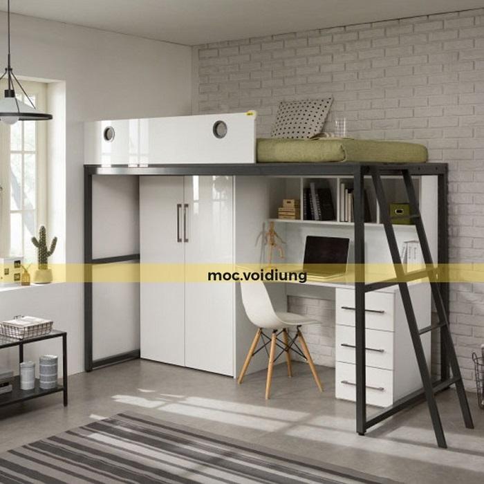 Mẫu nội thất tích hợp cho phòng riêng có không gian nhỏ