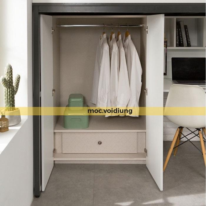 Tủ quần áo cho nội thất phòng ngủ không gian nhỏ
