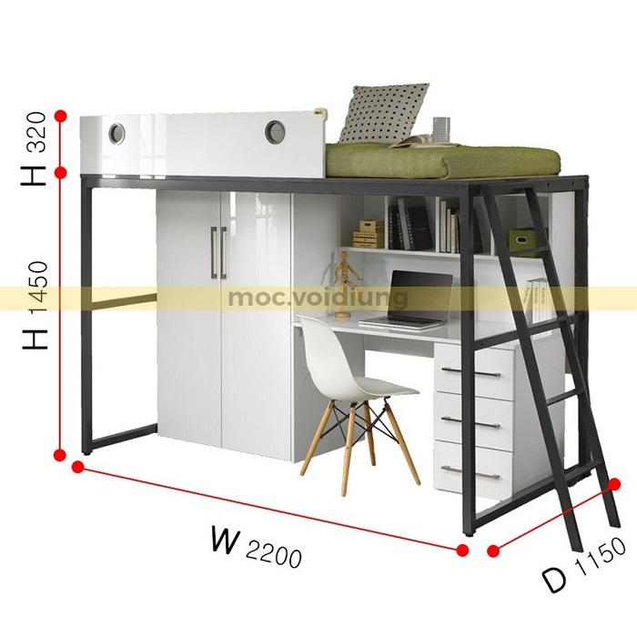 Kích thước của bộ nội thất phòng ngủ