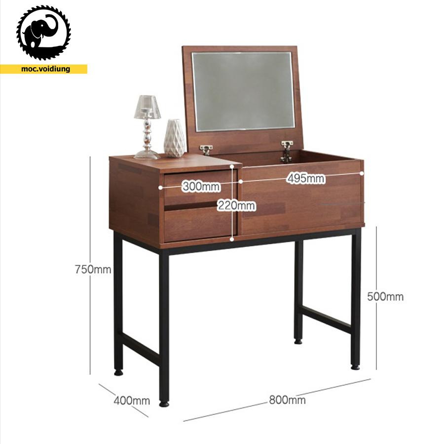 Kích thước bàn có thể gia công thay đổi theo yêu cầu