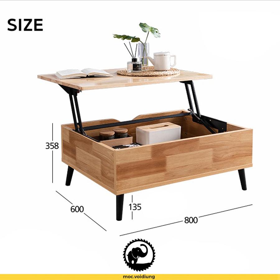 Kích thước bàn vừa đủ để sử dụng nhưng không quá lớn làm chiếm đi diện tích