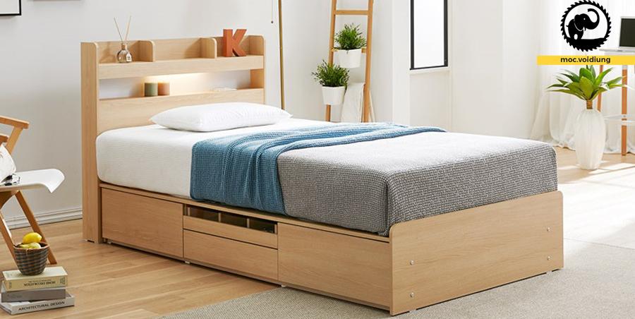 Mẫu giường ngủ ngăn kéo xinh xắn cho những đôi vợ chồng trẻ