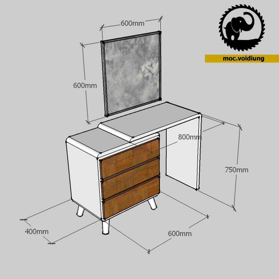 Kích thước thiết kế của bàn