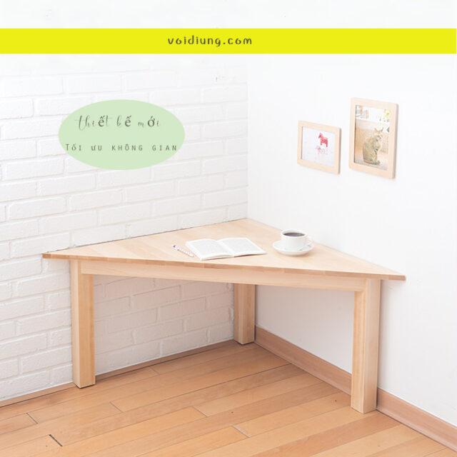 Bàn làm việc gỗ với thiết kế mới, tối ưu hóa sáng tạo.