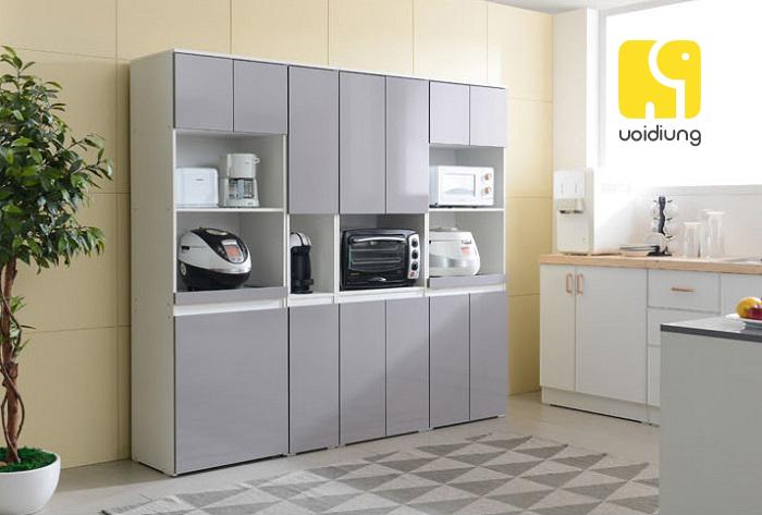 Tủ bếp đã góp phần tạo nên không gian gọn gàng và ấm áp.