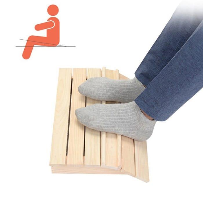 Kệ đăt chân giải pháp về chống mỏi chân khi ngồi trong thời gian dài.